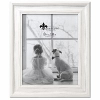"""8"""" x 10"""" Distressed White Picture Frame"""