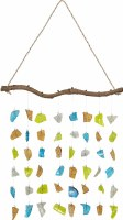 """18"""" Multicolor Painted Glass Wall Hanging"""
