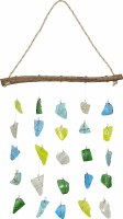 """12"""" Multicolor Painted Glass Wall Hanging"""