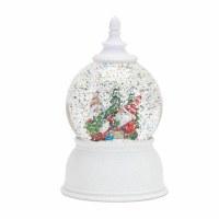 "7"" White LED Gnome Christmas Tree Snow Globe"