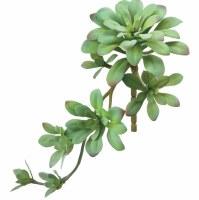 "12"" Faux Green Gray Soft Aeonium Succulent"