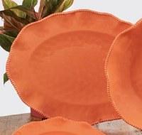 "18"" Oval Coral Perlette Scalloped Edge Platter"