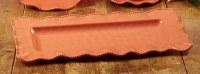 "9"" x 19"" Rectangle Coral Perlette Scalloped Edge Tray"