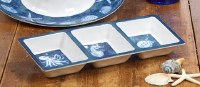 """6"""" x 15"""" Oceanic Triple Compartment Serving Tray"""