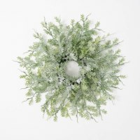 6.5 Opening Faux Frosted Fern Candle Ring