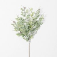 """21"""" Faux Frosted Fern Spray"""