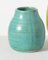 "4"" Turquoise Ceramic Bud Vase"