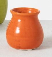 """4"""" Orange Ceramic Bud Vase"""