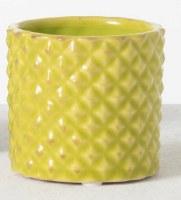 "3"" Lime Ceramic Textured Pot"