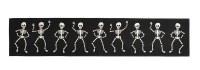 "16"" x 80"" Black and White Dancing Skeletons Table Runner by Mud Pie"