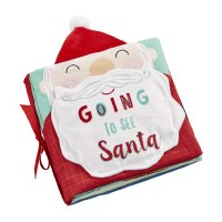 """6"""" Square Going To See Santa Soft Book by Mud Pie"""