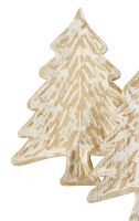 """15"""" x 11"""" Hand-Painted Whitewashed Wood Tree Tray by Mud Pie"""