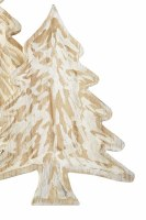 """13"""" x 9"""" Hand-Painted Whitewashed Wood Tree Tray by Mud Pie"""