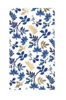 """8"""" x 5"""" Blue and Gold Floral Guest Towels"""