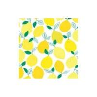 "5"" Square Yellow Lemons Beverage Napkins"