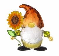 "3"" Orange and Yellow Acrylic Fall Sunflower Gnome"