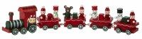 "10"" Red Wood Christmas Train"