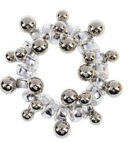 """2"""" Silver Happy Holidays Hair Coil"""