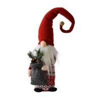 """23"""" Red and White Sweater Tall Skinny Gnome With Gift Sack"""