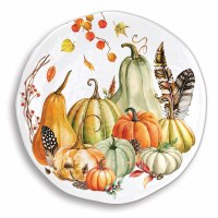 "18"" Round Sweet Pumpkin Melamine Large Serving Platter"