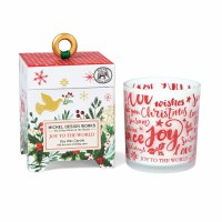 6.5 oz Joy To The World Glass Candle With Decorative Box