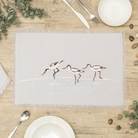 """20"""" x 14"""" Embroidered Avocet Placemat"""