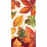 "8"" x 4"" Vibrant Fall Leaves Guest Towels"