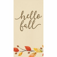 """8"""" x 4"""" Hello Fall Branch and Leaves Guest Towels"""