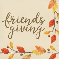 """6.5"""" Square Thankful Friends Giving Lunch Napkins"""