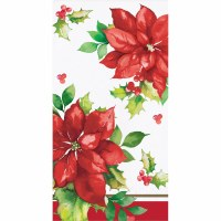 """8"""" x 5"""" Perfect Poinsettia Guest Towels"""