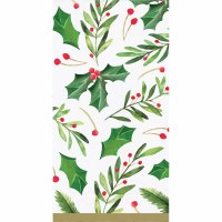 """8"""" x 5"""" Traditional Holly Guest Towels"""