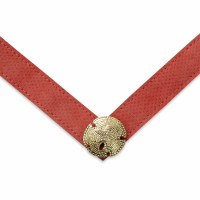 Large Jada Coral Suede With Gold Sand Dollar Strap