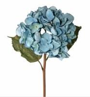 "22"" Faux Blue Just Dried Grand Hydrangea Stem"