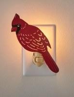 """7"""" Red Cardinal Metal Night Light"""