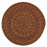 """15"""" Round Multicolor Allspice Braided Placemat"""