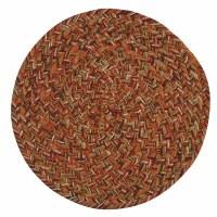 """8"""" Round Multicolor Allspice Braided Trivet"""