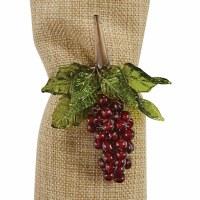 "4"" Red Grapes Mason Reserve Napkin Ring"