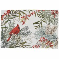 """13"""" x 19"""" Winter Cardinal Fabric Placemat"""