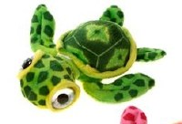 "7"" Green Big Eye Turtle Plush Toy"