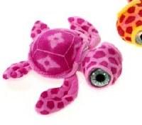 """7"""" Pink Big Eye Turtle Plush Toy"""
