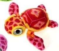 "7"" Red Big Eye Turtle Plush Toy"