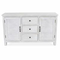 "48"" Whitewashed 3 Drawer 2 Door Modern Farmhouse Cabinet"