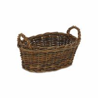 """11"""" Oval Natural Willow Basket With Handles"""