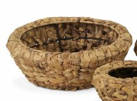 "15"" Round Large Wooden Weave Basket"