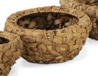 """11"""" Round Medium Wooden Weave Basket"""