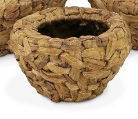 """7"""" Round Small Wooden Weave Basket"""