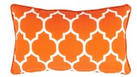 """12"""" x 20"""" Orange Tiles Outdoor Pillow With Matching Piping"""