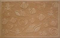 """22"""" x 35"""" Beige Seashells Weather Beater Polypropylene Doormat"""