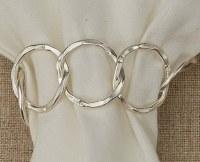 "2"" Silver Circle Links Napkin Ring"