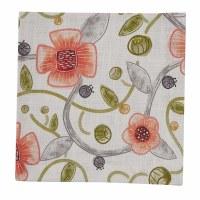 "20"" Square Coral Flower Cara Fabric Napkin"